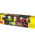 Neon kleuren hobby verf