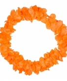 Neon oranje hawaii krans