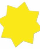 Neongele actie sterren 18 cm