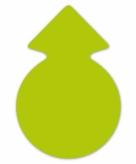 Neongroene actie cirkel pijlen 23 cm