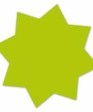 Neongroene actie sterren 18 cm