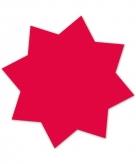 Neonroze actie sterren 18 cm