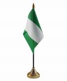 Nigeria versiering tafelvlag 10 x 15 cm