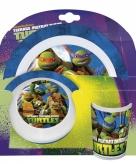 Ninja turtles kinder servies 3 delig