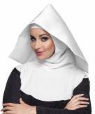 Nonnen hoofdkapje wit voor dames