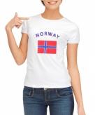 Noorse vlag t-shirt voor dames