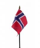 Noorwegen vlaggetje polyester