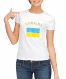Oekraiense vlag t-shirt voor dames