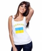 Oekraiense vlag tanktop voor dames