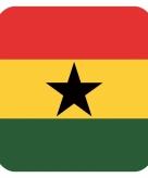 Onderzetters voor glazen met ghanese kleuren 15 st