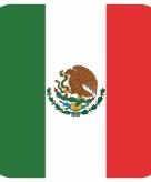 Onderzetters voor glazen met mexicaanse kleuren 15 st