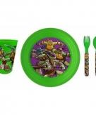 Ontbijtset turles met 3d bord voor kinderen