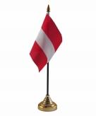 Oostenrijk versiering tafelvlag 10 x 15 cm