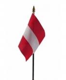Oostenrijk vlaggetje polyester