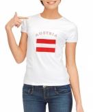 Oostenrijkse vlag t-shirt voor dames