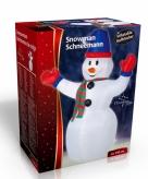 Opblaas decoratie sneeuwpop 240 cm