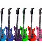 Opblaas elektrische gitaar roze