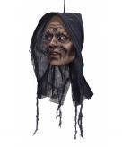 Opgehangen zombie vrouw hoofd decoratie