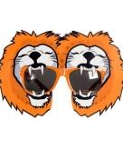 Oranje feestbril met leeuwen