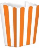 Oranje gestreepte snoepbakjes 5 stuks