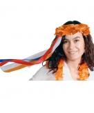 Oranje haarband bloemenkrans