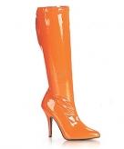 Oranje hoge dames laarzen
