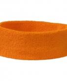 Oranje hoofd zweetbandjes