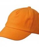 Oranje kinder caps