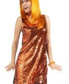 Oranje pailletten jurk voor dames