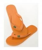 Oranje slippers voor heren