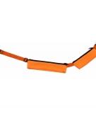 Oranje sport heuptasje 2 vakken 80 107 cm voor volwassenen