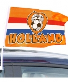 Oranje supporters autovlag holland