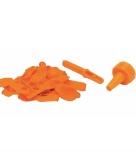 Oranje waterbommen met kraan opzetstuk 60 stuks