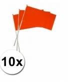 Oranje zwaaivlaggetjes 10 stuks