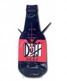 Originele duff bierfles klok