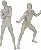 Originele morphsuit zilverkleurig