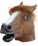 Paarden masker bruin van rubber