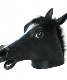 Paarden masker zwart van rubber