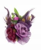 Paarse decoratiebloemen met clip