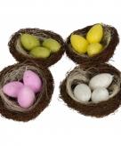 Paas vogelnestje met ei kaarsjes