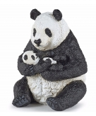 Panda met jong speeldiertje 8 cm