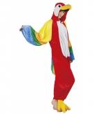 Papegaai onesie dierenpak 180 cm
