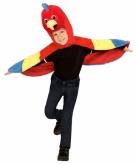Papegaai verkleedcape voor peuters