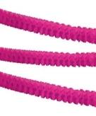 Papieren feest slinger roze 3 6 m