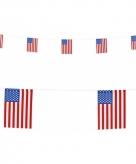 Papieren vlaggenlijn amerika slingers 6 m
