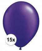 Parel paars qualatex ballonnen 15 stuks