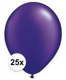 Parel paars qualatex ballonnen 25 stuks
