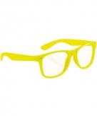Party bril neon geel