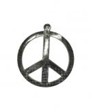 Peace teken wanddecoratie 52 cm
