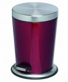 Pedaal emmer afvalbak roestvrijstaal 5l glanzend rood